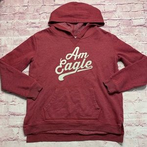 American Eagle Womens Size Medium Spellout Hoodie